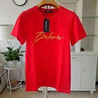 Balmain Stylist T Shirts Black White Mens T Shirts Fashion M...
