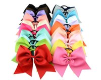 Big Bowknot Solid Girls Cheerleading Hair Bow Grosgrain Ribb...