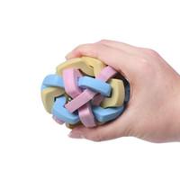 dents grind couleur contraste chien balle son ballon élastique Chew brosse à dents en tricot chews Balles jouets formation produits pour animaux de compagnie et seront jouets pour chiens de sable