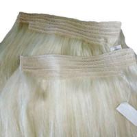Große Qualität 120G reine Farben-Blondine 613 # Silk gerades brasilianisches Remy Haar 18inch 20inch 22inch 24inch Schlag in den Haar-Einschlagfäden reales Menschenhaar
