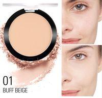 Face Foundation Pulver Matte Make-up gedrückt durchscheinende natürliche Make-up lange dauerhafte Ölkontrolle Kompaktkosmetik