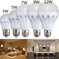 E27 에너지 절약 LED 5W 7W 9W 12W 전구 조명 램프 AC 110 / 220V DC 12V Bulds