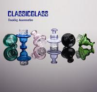 Ciclone Riptide Carb Cap Girulação de vidro de fumaça de fumo para 25mm plana top bangers cúpula com furo de ar terp pérola quartz banger prego