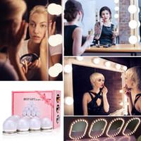 Led Makyaj Ayna Makyaj Ampuller Seti Masa Kozmetik Dim Duvar Lambası 10 Ampüller Giyinme Parlaklık Hollywood'un 30 Çeşit