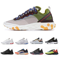Nike Cheap Solar Red React Element 55 Game Royal Men Running Shoes For Women Designer Sneakers Sports Mens women Trainer 55s Sneakers 36-45