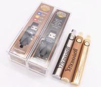 نحاس المفاصل بطارية قابلة للتعديل 650mAh 900mAh الذهب الخشب قابل للتعديل الجهد VAPE القلم لخراطيش Abracadabra متصلة