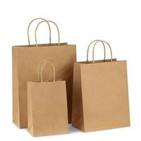 Borsa da regalo 10pcs Borsa di carta, borse della spesa, borsa kraft, borse al dettaglio, sacchetti di partito, sacchetti regalo di carta marrone con manici BULK