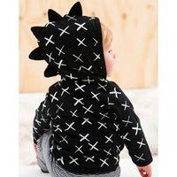 Perakende Yenidoğan Bebek Cadılar Bayramı Dinozor Kapşonlu Ceket Kaban Çocuk Kış Mont Erkek Kız Tasarımcı Ceketler Dış Giyim Çocuk Giyim