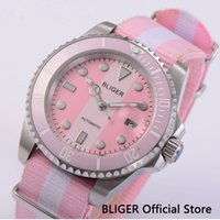 Summer Style Teenage Watch 40MM Pink Automatic Watch Sapphir...
