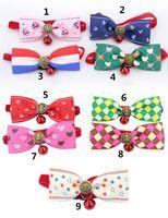 Pet Kopfbedeckung Hundehalsband Krawatte Hundebogen Krawatte Katzenbindung Pet Grooming Supplies Mehrfarbenfreies Großhandelsverschiffen