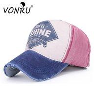 Frühling Sommer Kappe Hip Hop Baseballmütze Retro Washed Denim Lässige Hysteresenhüte Für Frauen Mädchen SHINE Brief Schleifen Farbe Hüte