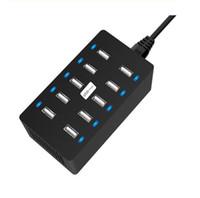 متعددة شاحن USB محول 40W ذكي USB سطح المكتب المسؤول 10 ميناء متعدد جهاز الهاتف النقال المسؤول لIPHONE سامسونج هواوي