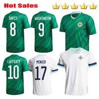 Homens + Kits Kits 2020 2021 Irlanda do Norte Jerseys de futebol Evans Lewis Saville Davis Whyte Lafferty McNair Home 20 21 Maillots Football Shirts