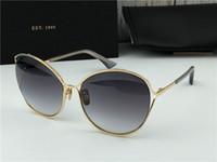 SASU White Gold / Dunkelgrau Shaded occhiali da sole Sonnenbrille-Glas-Frauen arbeiten Sonnenbrille Sommer neu mit Box