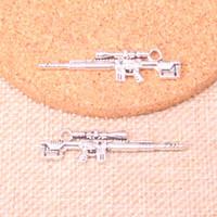 41 шт. Подвески Снайперская винтовка Gun 8 * 42 мм Античный Делать подвесную подложку, старинные тибетские серебро, DIY ювелирные изделия ручной работы