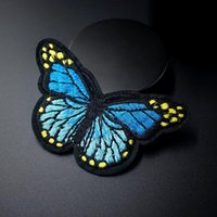 Blauer Schmetterling DIY Tuch Abzeichen Patch Gestickte Applique Nähen Kleidung Aufkleber Kleidung Zubehör