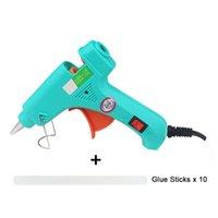 EU-Heißkleber-Gun Hohe Temp-Heizheizung Schmelzklebentasche 20W Reparaturwerkzeug mit 7-mm-Klebstoffstöcken