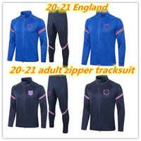 20 21 Surveetement Erwachsene Trainingsanzug 2020 2021 England Kane Rashford Sterling Wilshere Fußball Sets Voller Reißverschluss Trainingsanzug Football Jacket Set