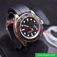 최고의 Editio N 116655 최고의 패션 2836-3135 운동 시계 블랙 매트 Cerachrom 세라믹 칼라 디자이너 시계 고무 밴드