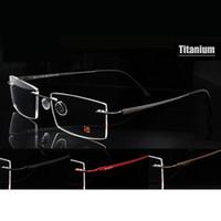 Sem aro óculos Pure Quadro Titanium Óculos de Marca Homens Sorbern por Homens Ultraleve Memória Óculos graduados Óculos de grau