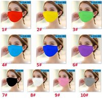 Adult Washable Solid Color Cloth Mouth Mask PM2. 5 Dustproof ...