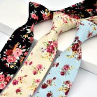 أزياء الرجال و6 سم الرقبة القطن التعادل طباعة الفاوانيا ربطة العنق حفل زفاف نحيل العلاقات