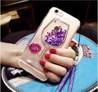 Apple 7 mobile phone shell new silicone 5s luxury rhinestone...