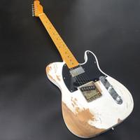 TL de la guitarra eléctrica hecha a mano pesada Relic con cuerpo de aliso, Relic Guitarra, mástil de arce, partes envejecidas de la guitarra libre del envío