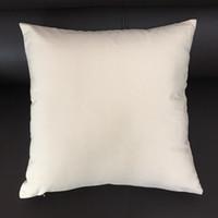 16x16 Zoll Blank Leinwand Kissenbezug Natürliche Leinwand Kissenbezug Weiß Baumwolle Kissenbezug Schwarz Kissenbezug für Hand-Druck (3 Farben)