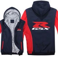 Мотор Suzuki толстовки зимняя куртка мужчины свободного покроя шерсть лайнер ватки толстовки Сузуки системы GSX Р толстовка пуловер