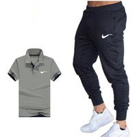 Classic Brand Summer Men ' S Sets Polo Shirts + Pants Two...
