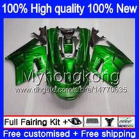 Kropp för Kawasaki ZZR 1100 CC ZX-11R 1990 1991 1992 205MY.10 Grön svart ZX 11R ZZR1100 ZX11 R ZZR-1100 ZX-11 R ZX11R 90 91 92 FAIRING