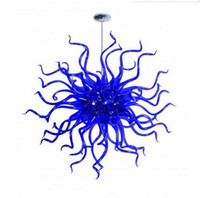 100 % 입 풍선 CE UL 붕규산 무라노 유리 데일 치 훌리 (Dale Chihuly) 예술 블루 램프 고유 현대 샹들리에