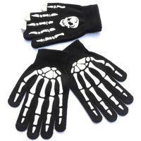 Трикотажные перчатки Написать Nonlip Череп Призрак Коготь Печать Перчатки на открытом воздухе Верховая езда Продолжайте теплые Оборудование для кемпинга Сенсорный экран 2 65QS N1