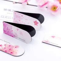 4pcs set Cherry Blossoms Magnetic Bookmark Book Marker Page ...