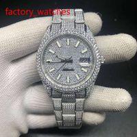 Полный алмазов высокого качества часы автоматические мужские из нержавеющей стали щепка чехол с бриллиантовым циферблатом роскошные блестящие новые поступления