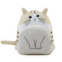 School Bags 3d Cat Printing Backpack Women Bag Canvas Backpa...