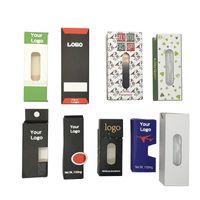 OEM Custom Logo Electronics Vaporizadores de cigarrillos Pre Rollo Paquete Paquetes de papel Paquetes a prueba de niños Embalaje de ampolla con ventana lateral Vape Cartuchos Atomizadores