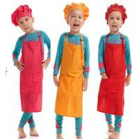 Kind Kinder Plain Schürzen Jungen-Mädchen-Küche Kochen Backen Malerei-Kunst-Schürzen Haushalts-Reinigungs-Werkzeuge LXL823Q
