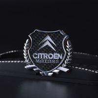 logo 2 pezzi Affinamento 3D Graphics distintivo dell'emblema della decalcomania autoadesivo dell'automobile per CITROEN