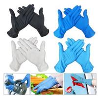 Stok DHL 100Pcs Tek Nitril eldivenler Eldivenler Tek kullanımlık eldiven Lateks Evrensel Mutfak / Bulaşık / / İş / Kauçuk / Bahçe Eldiven Sol