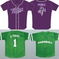 G-bébé # 1 Hardball Jersey Nuit du Prince Film Baseball Jersey NOUVEAU Sewn Tout nom Livraison gratuite S à 3XL vert