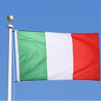 PC 1 La bandera de Italia 90 * 150 cm / 3 * 5 FT Grandes colgantes nacional de Italia País Bandera italiana Bandera usado para el festival la decoración del hogar