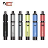 Authentic YoCan Regent Kit 1100mAh Batteria Batteria Regolabile QTC VAPorizer cera bobina vaporizzatore e sigaretta con jar di silicone Penna vape 6 colori