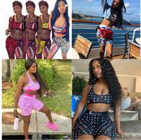 Mulheres Designer Swimsuit Tubarão Laço Up Sutiã + Shorts Natação Natação Terno De Tronco Calças De Verão Swimwear 2 Parte Bikini Set D61514