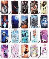 Мультфильм Panda Tiger Цветок розы бабочки единорог кожаный бумажник флип чехол для Samsung A21 A01 A41 A11 A81 A91 A51 A71 A70 5G NOTE10 LITE