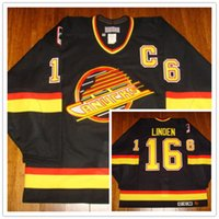 a5c8a4db9 New Arrival.  16 Trevor Linden Vintage Vancouver Canucks CCM mens Hockey  Jersey Embroidery Stitched ...