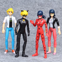 4PCS SET Miraculous Ladybug Action Figure Toys Adrien Agrest...