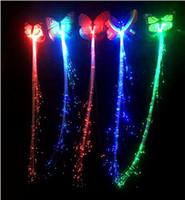 Светодиодная вспышка бабочки Braid Luminous Braid бабочки волос партии концерт возглавляемые Аксессуары для волос Хэллоуин Рождество аксессуары Светодиодные игрушки EZYQ521