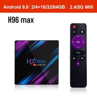 H96MAX Android 9.0 TV Box RK3318 Quad Core de 64 bits 2.4G / 5.8G Wifi BT 4.0 4K HD Media Player Mini Set Top Box Controle por Voz